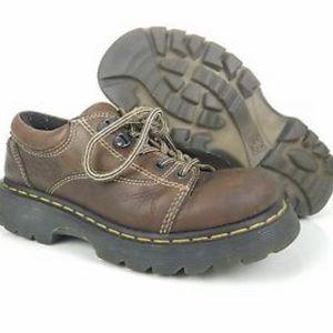 Doc marten air wair cushion brown leather oxfords